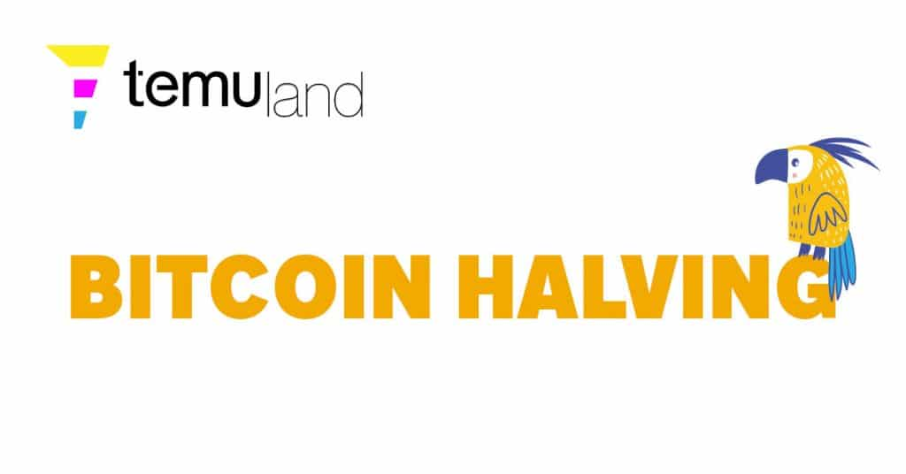 A Bitcoin halving event is when the reward for mining bitcoin transactions is cut in half.