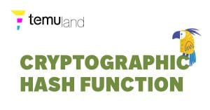 """A cryptographic hash function is a mathematical algorithm that maps data of arbitrary size to a bit array of a fixed size (the """"hash)."""