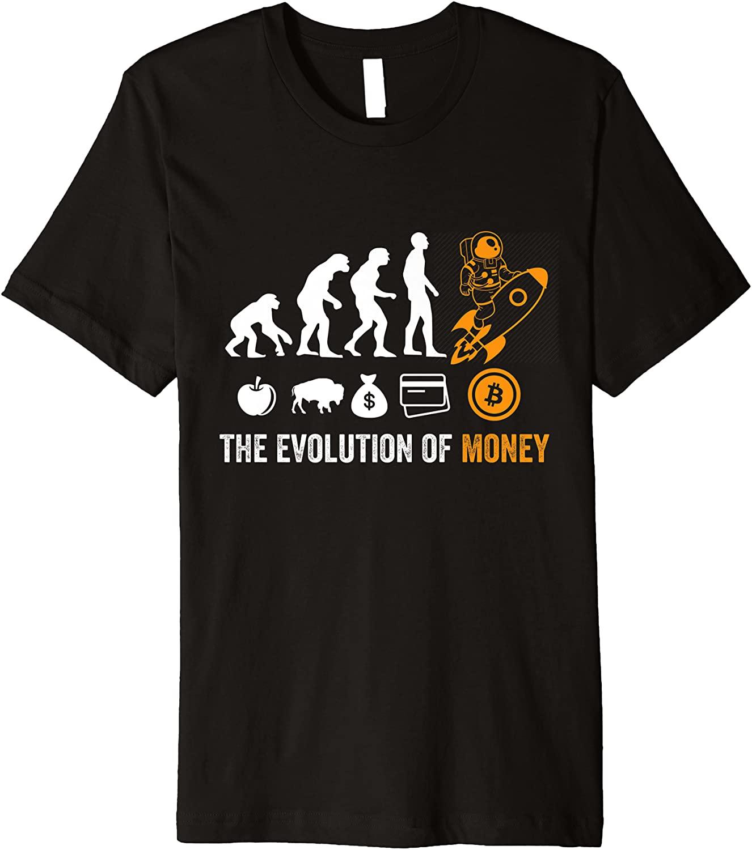 Bitcoin Evolution of Money Premium T-Shirt