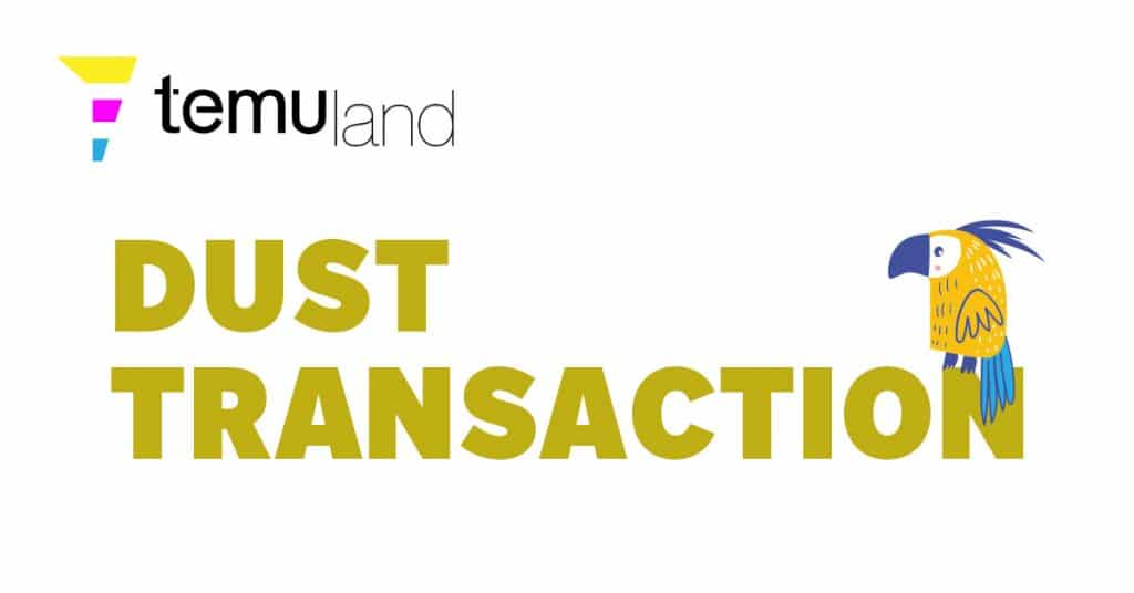 Dust transactions are a series of trace amounts of crypto assets that individually are less valuable than the computing power or fee that is required to process them