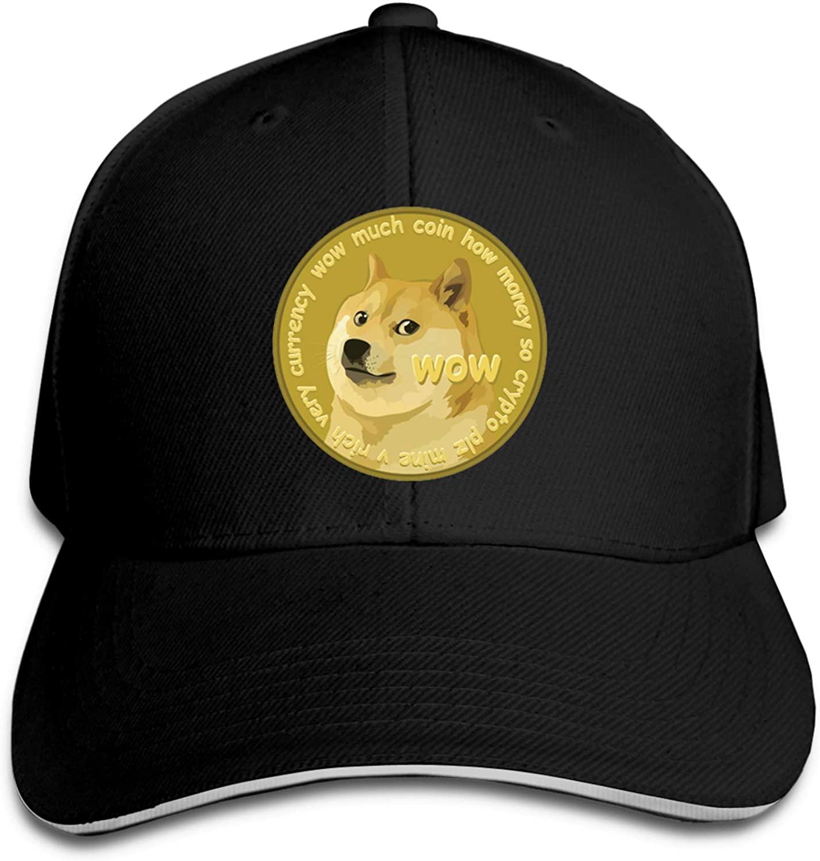 wiiker dogecoin coin logo caps funny doge miner hat trucker mesh baseball cap