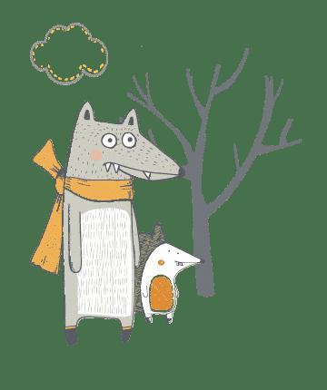 temuland wolf-hedgehog